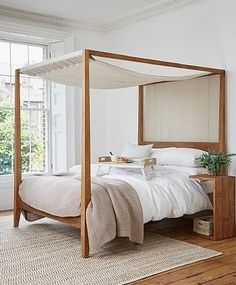 Our Sumatra Four Poster Bed Is Handmade By S From Rustic Reclaimed Teak In Indonesia