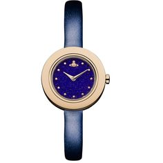 Vivienne Westwood Edge Night Watch Glitter ($325) ❤ liked on Polyvore featuring jewelry, watches, navy jewelry, blue dial watches, navy blue watches, quartz movement watches and vivienne westwood watches