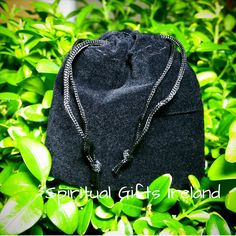 Black Velvet Drawstring Pouch 7cm x 6cm Black velvet mini drawstring pouches.    Perfect for small gift items, jewellery or crystals.  Pouch size: 70mm x 60mm Shop now: www.spiritualgiftsireland.com  Follow us on: www.facebook.com/spiritualgiftsireland www.instagram.com/spiritualgiftsireland www.etsy.com/shop/spiritualgiftireland