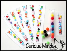 Tube Pattern matching Preschool Busy Bags by CuriousMindsBusyBags, $9.00