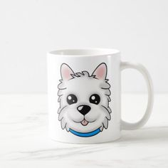 """""""My Bestie Is A Westie"""" BOY Mug - home gifts ideas decor special unique custom individual customized individualized"""