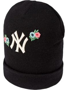 Gucci Wool Hat With NY Yankees™ Patch - Farfetch 9fee65dd94e7