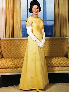 "Lady Bird Johnson  Johnson presided over the 1963 event in a canary-yellow bateau-neck gown by John Moore. The down-to-earth First Lady ordered her dress through Neiman Marcus in Texas. ""I like clothes—I like them pretty,"" she told Time, ""but I want them to serve me, not for me to serve them.""."