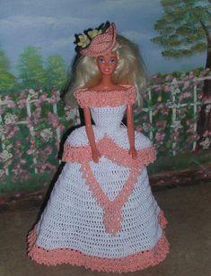 Crochet mode poupée Barbie Pattern 106 BELLE par JudysDollPatterns