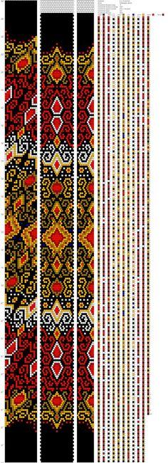 Схемы жгутов из бисера крючком от Марии Глуховой | Bead crochet ...