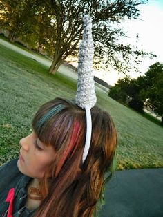 Crochet Unicorn Horn Headband
