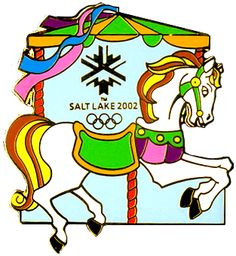 2002 Salt Lake City Olympics Carousel Horse Pin.