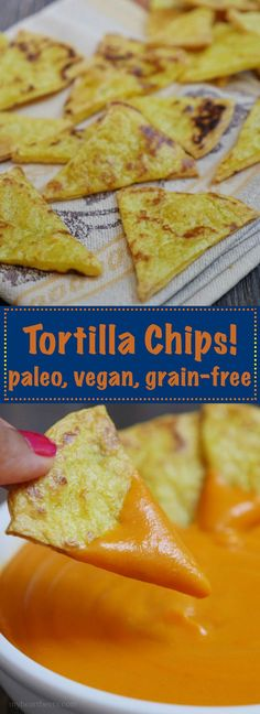 Paleo Tortilla Chips by MyHeartBeets.com                                                                                                                                                                                 More