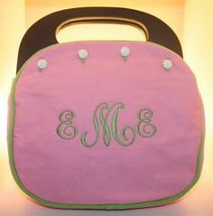 Remember these?  You could change the covers---and pink and green with the monogram was preppy heaven:))