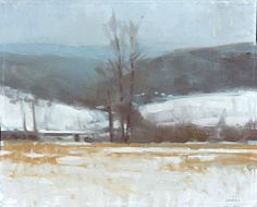 Frank Hobbs: Winter Distance Field and Mountains