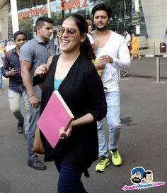 Stars Spotted 2015 -- Genelia D Souza spotted at the airport Picture # 327736