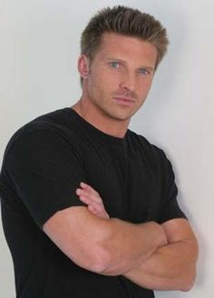 Steve Burton - General Hospital baby! I love him! I haven't watched GH in a while. I heard he left it and I am sad. He and Sam or Elizabeth together were hot!