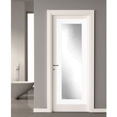 Modern Silver Over The Door Full Length Mirror | Overstock.com Shopping    The Best Deals On Mirrors