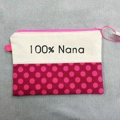 Trousse personnalisable avec texte ou prénom en lin et coton.