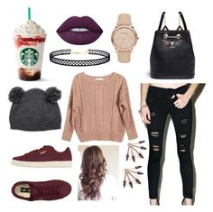 """""""casual"""" by daniela-vargas-garcia on Polyvore featuring Ryan Roche, Klique B, Puma, Burberry, Charlotte Olympia, Lime Crime and LULUS"""