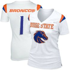 Nike Boise State Broncos Ladies Replica Football Premium T-shirt - White