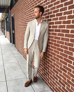 "7a2eab5d6508 Andreas Weinås on Instagram  "" Throwback to NYC last summer. Wearing my  Eidos Ciro Suit and Lupo Shirt. Keeping it simple is often the key for a  comfortable ..."
