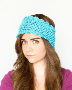Dainty Scalloped Ear Warmer Crochet Pattern via Hopeful Honey