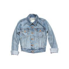 Levi Strauss & Co. Jackets Light Blue Jean Jacket - StyleCaster ❤ liked on Polyvore