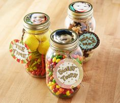 DIY Father's Day Candy Jar Help the kids create a lasting gift Dad or Grandpa will adore. Fill a mason jar with his favorite things like candy, nuts, or golf tees. Use the lid to make a photo frame....