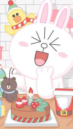 บราวน์โคนี่😘 Cover Wallpaper, Lines Wallpaper, Iphone Wallpaper, Line Cony, Cony Brown, New Toy Story, Kakao Friends, Kawaii, Bunny And Bear