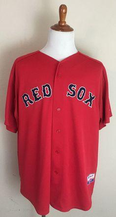 Majestic MLB Boston Red Sox Mens Johnny Damon Jersey Authentic size XXL 2XL #Majestic #BostonRedSox