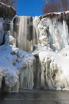 Minnehaha Falls in winter, awesome hike in the winter!  You can climb up behind the frozen falls and take some amazing pics!
