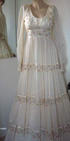 Vintage Gunne Sax Dress Gauzy Victoiran dress Party dress Wedding.   I remember buying something similar