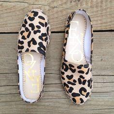 Summer flats! #espadrilles #leopard