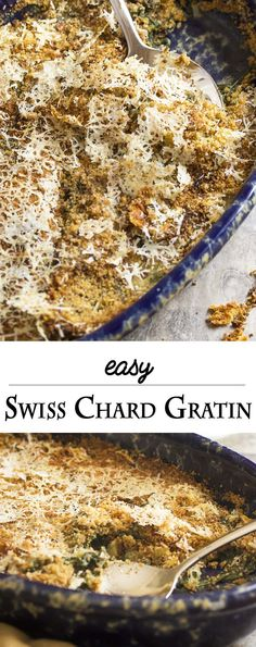 Easy Swiss Chard Gratin - This easy chard gratin is all about the ...