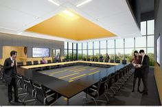 North Park University Johnson Science and Community Life Center, Chicago IL | Conference Room | VOA Associates, Architects