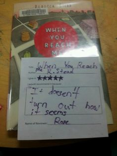 """When You Reach Me by Rebecca Stead  5 stars- """"It doesn't turn out how it seems"""" -Rose"""