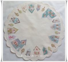 El telar de mi abuela ♥ House Quilt Block, House Quilts, Quilt Blocks, Patchwork Table Runner, Quilted Table Runners, Applique Quilts, Embroidery Applique, Mini Quilts, Baby Quilts