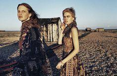 The New Lightness: Magdalena Jasek, and Louise Parker by Yelena Yemchuk for Vogue Italia January 2016 - Valentino Spring 2016