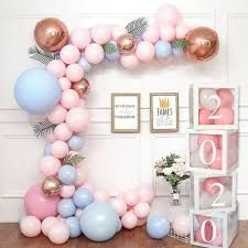 Transparent Number Age Box Girl Boy Baby Shower Decorations Baby 2 ... 1st Birthday Party Decorations, Baby Shower Decorations For Boys, 1st Birthday Parties, Gender Reveal Decorations, Balloon Decorations, Balloon Garland, Balloon Box, Decoracion Baby Shower Niña, Transparent Balloons