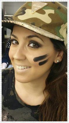 Maquillaje para disfraz militar