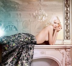 dior addict 2014 ryan mcginley4 Sasha Luss Swings on a Chandelier for New Dior Addict Campaign
