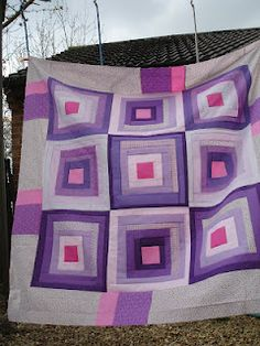 Purple power... may be in a log cabin quilt!