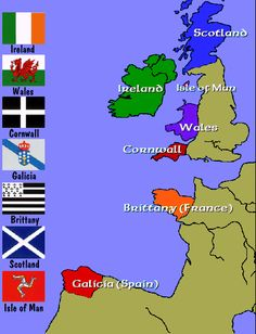 Celt Galicia (Spain) - Celt Countries and  Flags in Western Europe.