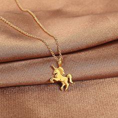 Women Unicorn Necklace Pendant Gold Clavicle Chains Choker Jewelry Gift $0.81