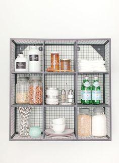 kitchen organization under the sink option! Love the shelves! Cube Wall Shelf, Cube Shelves, Wall Shelves, Open Shelves, Kitchen Organization, Organization Hacks, Kitchen Storage, Kitchen Styling, Organizing Life