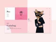 Playing with shapes concep web layout