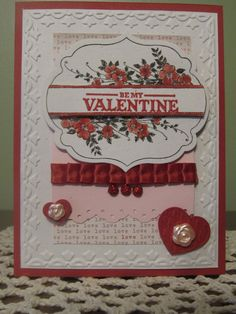 Stampin' Up Handmade Greeting Card: Valentines Day.Etsy.