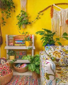 9 Beautiful Boho Wall Decor Ideas • One Brick At A Time Boho Living Room, Living Room Decor, Bedroom Decor, Hippie Home Decor, Diy Home Decor, Shabby Vintage, House Colors, Decor Ideas, Boho Ideas