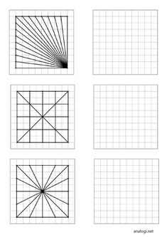 Visual Perception Activities, Graph Paper Drawings, Blackwork Cross Stitch, Isometric Art, Embroidery Cards, Easy Drawings For Kids, Drawing Activities, Geometric Drawing, Math Art