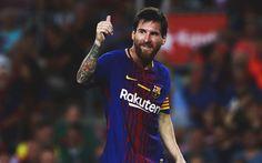 Descargar fondos de pantalla Leo Messi, pulgar hacia arriba, a las estrellas del fútbol, La Liga española, Lionel Messi, del FC Barcelona