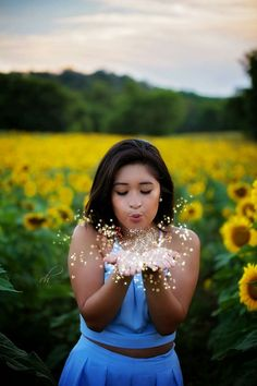 Senior pictures sunflower photography