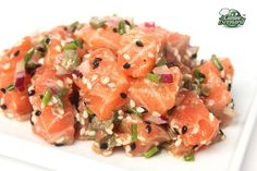 Bernard's Cuisine: Salmon Tartare with Capers and Red Onions Spicy Fish Recipe, Salmon Fish Recipe, Basa Fish Recipes, Whole30 Fish Recipes, White Fish Recipes, Baked Salmon Recipes, Avocado Recipes, Healthy Recipes, Drink Recipes