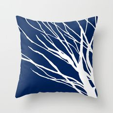Navy Blues Throw Pillow