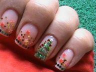 Christmas Nail Art Tutorial - Easy Nail Polish Xmas Tree Designs Long / Short Nails Cute Latest